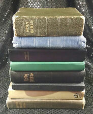 Lot of 8 Vintage Bibles Christian Religious Books 1930s 1940s 1950s Two Spanish