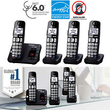 Cordless Phone System 4 Handsets Answer Machine Call Block Panasonic KX-TGE234B