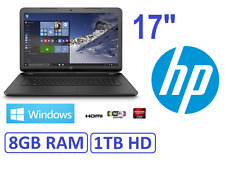 "Ordenador portatil HP 17"" gama 2017 ,RAM 8Gb , HD 1Tb, HDMI ATI 1696MB"