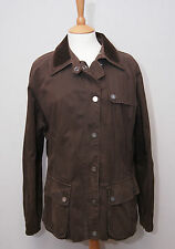 Aquascutum womens showerproof brown dry wax cotton style country field jacket XL