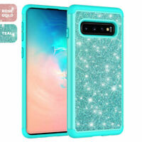 For Samsung Galaxy S10/S10 Plus/S10e Hard Phone Case Bling Glitter Armor Cover