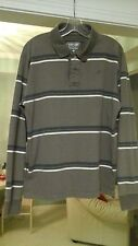 MENS  LONG  SLEEVED  URBAN PULLOVER BROWN  WITH STRIPES  SZ m