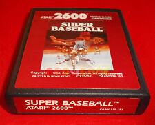 SUPER BASEBALL Atari Vcs 2600 ○ CARTUCCIA e MANUALE - FY