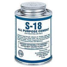 S-18 Neoprene Cement All Purpose 8 oz Can for Felt • Fabrics • Glass • Metal