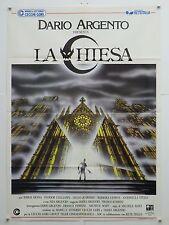 LA CHIESA horror Soavi con Asia Argento Tomas Arana manifesto orig. 1989
