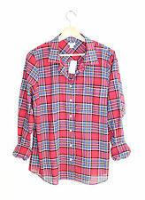 J.Crew NWT NEW Red Blue Tartan Plaid Classic Button Down Fitted Perfect Shirt XL