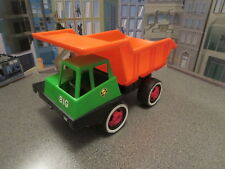 VINTAGE PLASTIC DUMP TRUCK BIG TOYS SCULLS AND CROSS BONES  GERMANY