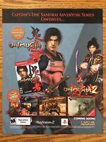 Onimusha Warlords 1 & 2 Capcom PS2 2002 Vintage Video Game Poster Ad Art Print