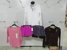 5 LADIES WORKOUT TOP SHIRT EVERLAST LEE RIDER FLEECE ZIPPER JACKET CLOTHES LOT