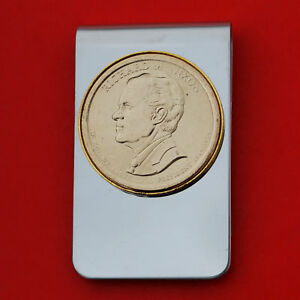 2016 Presidential Dollar BU Unc Coin Money Clip NEW - Richard Nixon
