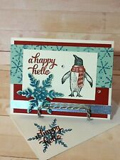 New ListingStampin up! A Happy Hello - Handcrafted- Card Kit-Set of 4
