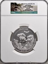 2016 P 5oz SILVER 25C Shawnee NGC SP 69 Early Releases must see!