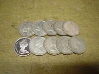 Anlegerposten , Kanada Silber , 10 x 25 Cents Elch, 58,33 g , Investorenpaket