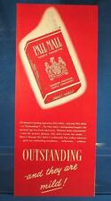 Vintage Magazine Ad Print Design Advertising Pall Mall Cigarettes
