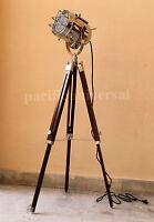 Nautical Decorative Floor Lamp with Adjustable Tripod Stand Vintage Spot Light.