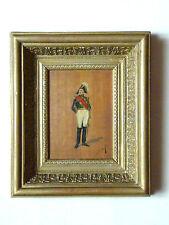 ancien tableau huile sur panneau portrait de militaire, signé Darling, XIX