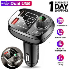 Bluetooth 5.0 Wireless Fm Transmitter Usb Charger Aux Adapter Mp3 Hands-free Car