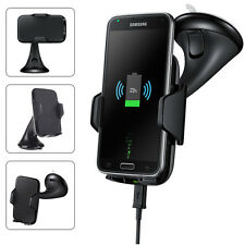 For Samsung Galaxy S6 S7 Edge QI Wireless Charger Adapter Car Stand Mount Holder