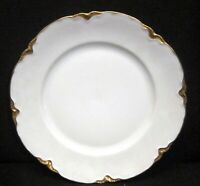 "Hutschenreuther Bavaria Germany The Blenheim 970 ~Dinner Plate 9 7/8"" White/Gold"
