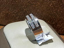 14K White gold Diamond  Wedding Band with 1.25CT. Round Diamonds. size 5.5.