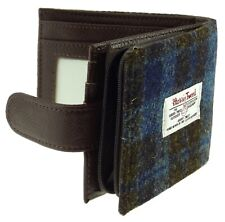 Authentic Harris Tweed Gents Coin Wallet Brown/Blue Checked LB2105 - COL 40