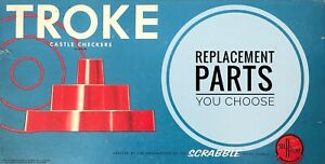 Troke Castle Checkers Replacement Pieces Selcho & Righter Game 1961 - You Choose