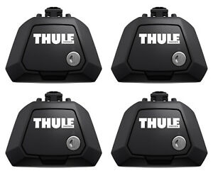 Thule 7104 Evo Clamp Foot Pack Set of 4 Lockable - For Open Roof Rack Rail Bars