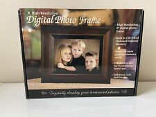 """8"""" ADS Digital Photo Frame & MP3 Player w/ Remote Control- Wood Colored"""