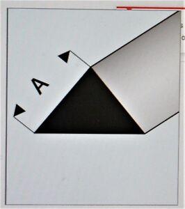 "MAQUETT 405-52/3 White Styrene 90° triangle rod 2.00mm / 0.080"" x 330mm/ 13""  X5"