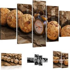 Bilder Uhr Wandbild Wecker Kunstdruck auf Leinwand Zeit Leinwandbild Home