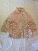 Giubbotto tipo impermeabile - non imbottito - taglia 110/116 cm - rosa - USATO