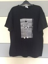 Mens Black Graphic 'Convict Barcode' T Shirt. Size L.  In VGC