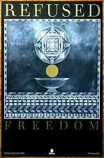 REFUSED Freedom Ltd Ed Discontinued NEW RARE Large Poster +FREE Punk Rock Poster