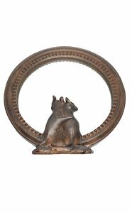 """Round Mirror Brown Distressed Mice Mouse Resin Mirror 7"""""""
