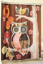 Owl Shower Curtain Fabric Retro Design