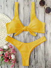 2018 Women Swimwear Bandage Summer Beach Bikini Set Push-up Padded Bra Swimsuits