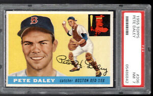 1955 Topps HI #206 PETE DALEY Boston Red Sox sharp/TOUGH/Low Pop PSA 7
