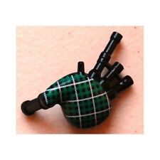 LEGO - Minifig, Utensil Bagpipes with Green and White Tartan Pattern - Black