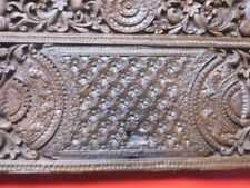 Asia Antique Wood Carved Panel Birds motifs 19th Cen. original Part Of wood Box