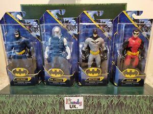 DC Batman Figures Bundle x4 Batman blue & grey Mr Freeze & Robin BRAND NEW BOXED