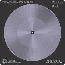 Alliance Model Works 1:32 Prop Blur Dynamic Propellers Fokker DR.1 #AW035