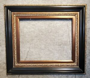 """5"""" WIDE classic Black With Bronze Oil Painting Wood Picture Frame 446AB"""