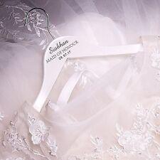 Wedding Hanger with Name Title & Date Engraved, Bridal Bridesmaid Hanger Gift K1