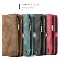 CASEME 2-in-1 Wallet TPU+Split Leather Phone Case Cover for Samsung Galaxy A20e