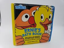RARE Vintage 1982 Sesame Street Ernie's Bath Book - Water-Safe Plastic Material