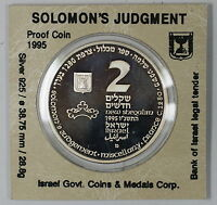 1995 Israel 2 New Sheqalim Silver Proof Biblical Art Commem Coin as Issued