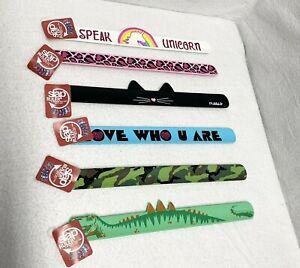 1 Slap Bracelet Ruler New Back To School B2S Silicone Fun Fashion Boy Girl