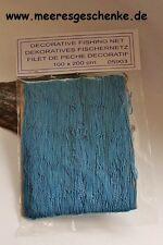 Deko Fischernetz 2 m² blau ca. 100 x 200 cm Baumwolle