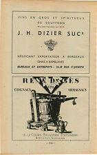 ADVERTISEMENT Vineyard Wine Rene Dages Cognac Dizier Bordeaux Stuttenberg