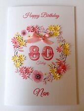 PERSONALISED BIRTHDAY CARD MUM SISTER NAN 40th 50th 60th 70th 80th 90th 100th